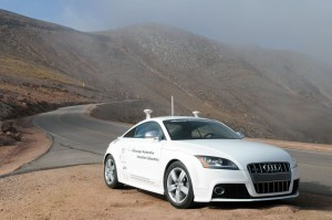 Driverless prototype developed by Audi