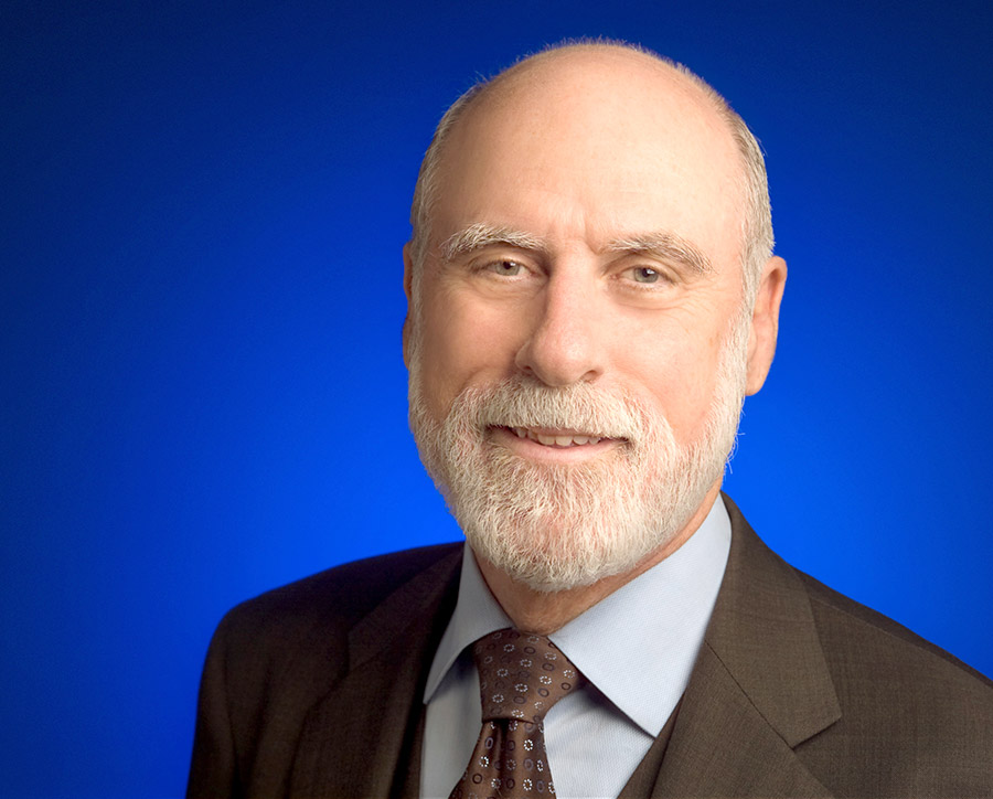 Vinton G. Cerf, vice president and chief Internet evangelist at Google, is the third lecturer in the Arts and Technology Distinguished Lecture Series.